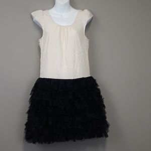 Gap Shift Dress with Layered Fringe Skirt